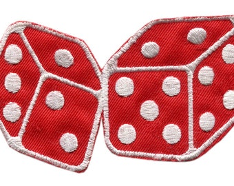 Vintage Style Dice Poker Playing Card Casino Patch 10cm