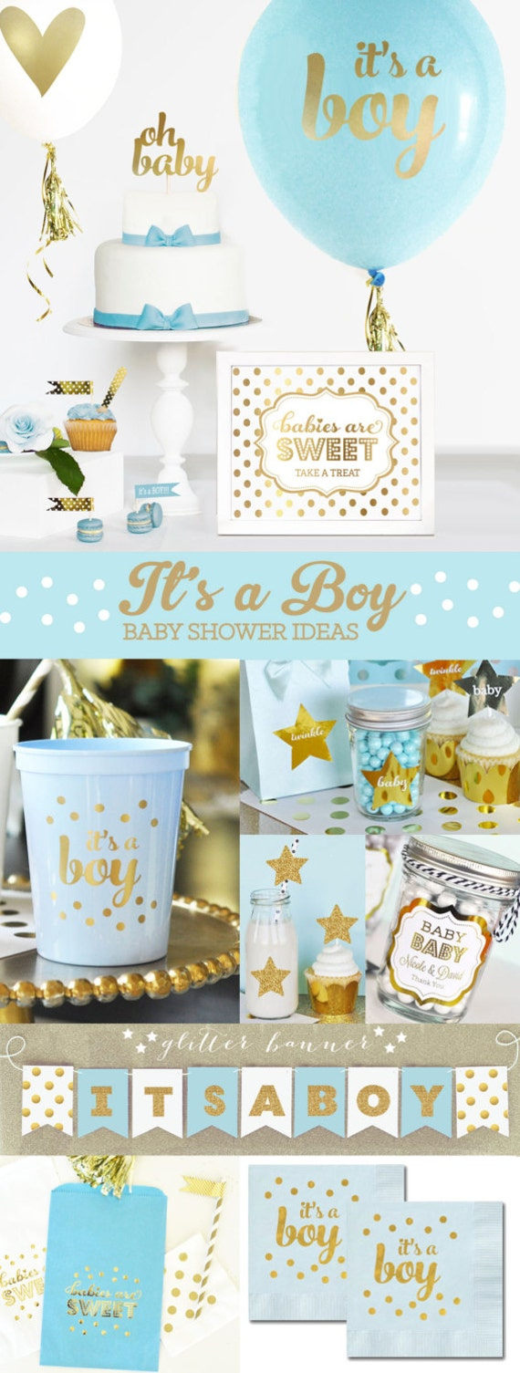 Baby Shower Decoration Sets Part - 38: Boy Baby Shower Centerpiece BALLOONS Boy Baby Shower Decorations Baby Boy  Shower Decor Ideas Baby Boy Theme (EB3110BBY) -SET Of 3 Balloons