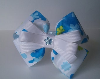 Light Blue and Multi Covered Headband