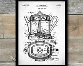 Patent Print, Coffee Percolator, Patent Poster, Vintage Coffee, Coffee Shop Decor, Diner Decor, Kitchen Wall Art, P376