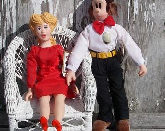 Vintage Blondie and Dagwood Dolls 1985 King Features Blondie and Dagwood Comic Strip Dolls Collectible Dolls