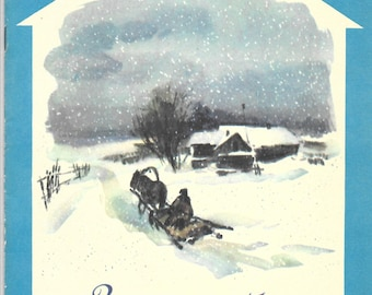 Verses of Russian poets. Winter road. Moscow 1986.