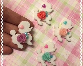 Small Poodle Shimmer Hair Clip or Brooch (options available)