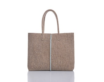 New Double colored Elegant and Casual Felt Bag from Italy, Tote Bag, Felted bag, Market Bag, Felt Tote.