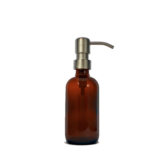 Amber Glass Soap Dispenser Brown Glass Eco By