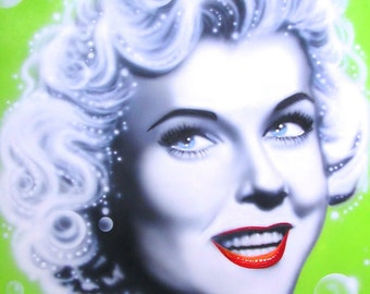DORIS DAY celebrity portrait painting by Artist Alicia Hayes