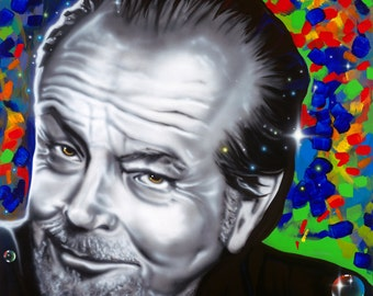 JACK NICHOLSON celebrity portrait painting by Artist Alicia Hayes