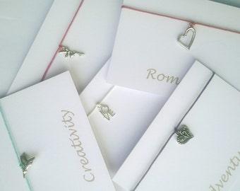 Set of 5 Wish/Charm/Friendship Bracelets - adjustible