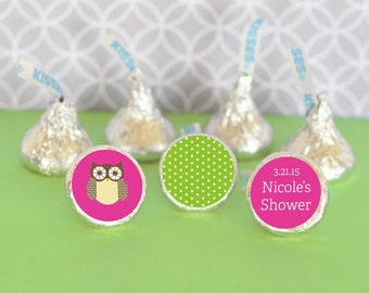 Baby Shower Favor-Candy Kiss Labels-Candy Stickers-Kiss Labels-Baby Animal Theme-Baby Shower-1st Birthday Party,Party Favors, Printed