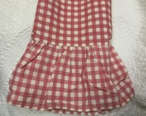 Original authentic Ralph Lauren pink check ruffled standard pillowcase