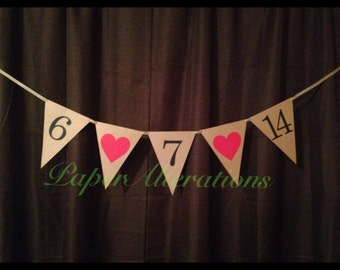 Wedding date save the date banner