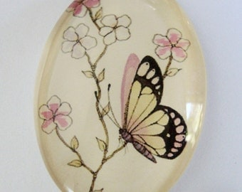 Flowers  Glass Cabochon
