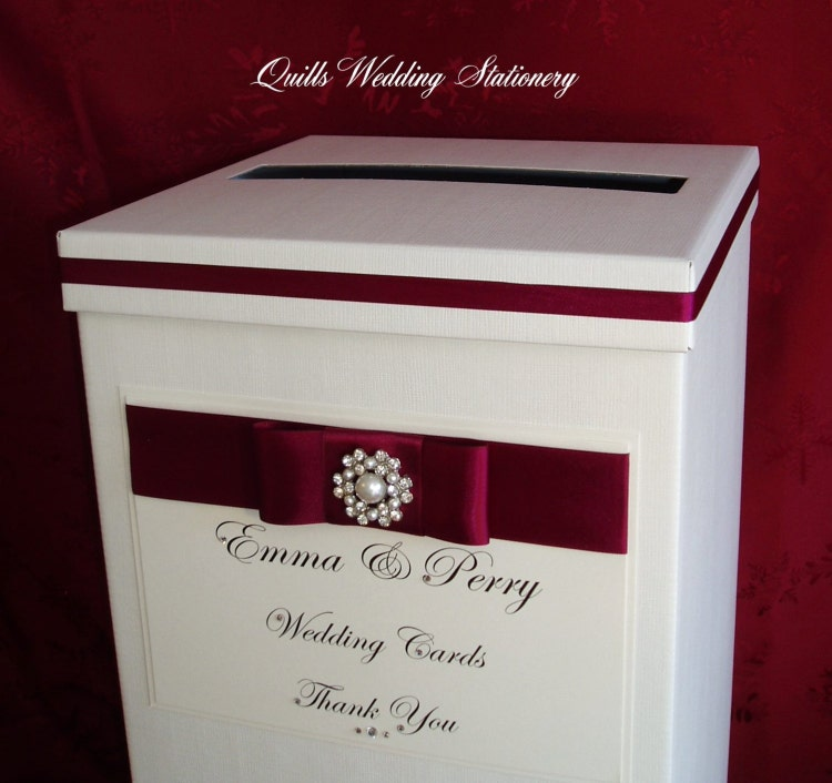 Luxury Personalised Wedding Card Post Box. by QuillsWeddingFavours