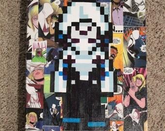 Comic Collage with custom pixel art