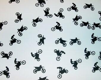 Dirt Bike Confetti 100 pcs Die Cut Punch Cutoutt Scrapbook Made to Order (1036E)
