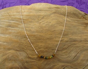 Genuine Maine Tourmaline Faceted Bead Necklace/ Handmade/ Hand Crafted