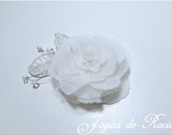 Bridal Flower. Bridal Hair Accessories, Bridal Headpiece. Hair Comb.