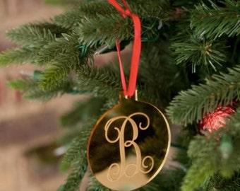 Monogrammed Wholesale Boutique Round Ornament