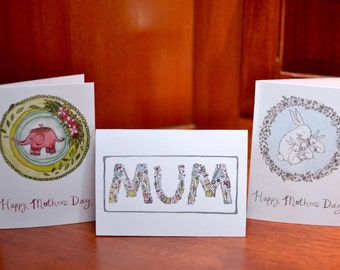 Set of 3 - Happy Mothers Day Cards