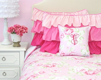 Shabby Chic Rose Big Kid Twin, Full, Queen Bedding   Pink Floral Big Kid Bedding