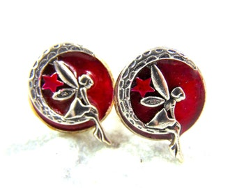 Cufflinks silver plated Fairy
