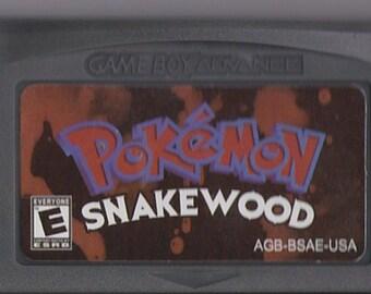 Gameboy Advance Game Boy GBA Pokemon SnakeWood Customized