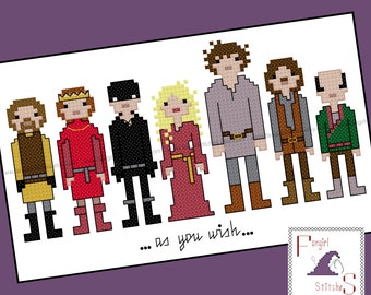 Princess Bride Inspired Cross Stitch - PDF Pattern - INSTANT DOWNLOAD
