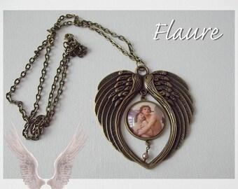 "large pendant necklace ""Angels"""