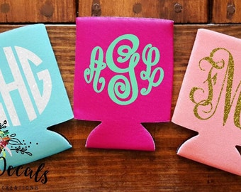 Monogram can coolers