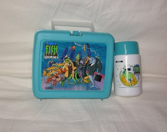 vintage 1992 thermos fish police lunchbox and thermos