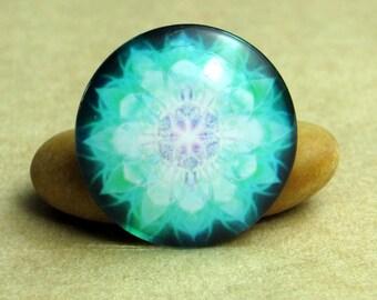 10pcs Colorful Kaleidoscope Handmade Glass Photo Cabochons, 8mm - 30mm, Handcraft Accessories 0045-5