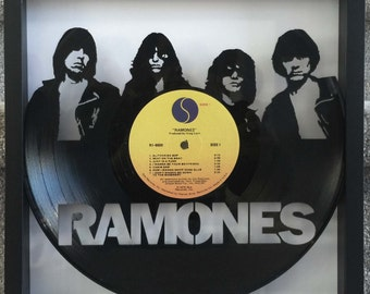 "The Ramones ""Ramones"" cut framed vinyl LP record art collectible gift"