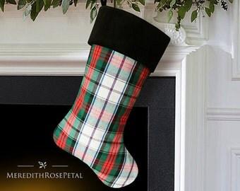 Plaid Christmas Stocking, Plaid Stocking, Plaid Christmas, Tartan Christmas Stocking, Tartan Stocking