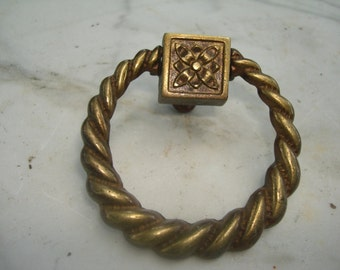 vintage brass drawer pull