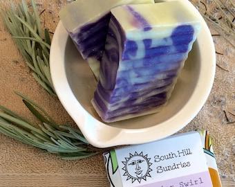 Lavender Swirl Organic Cold Process Soap