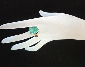 Beautiful Druzy Geode Ring