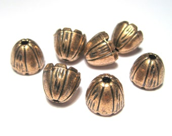 10pcs Antique Copper Cone Bead Cap Tassel Cap 10mm