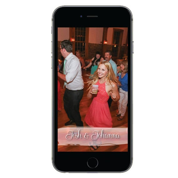 Snapchat GeoFilter for Weddings- Digital Download
