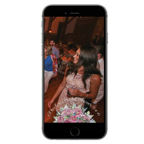 Snapchat GeoFilter for Bridal Shower- Digital Download