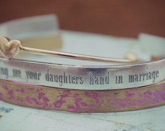 Thank You For Allowing Me Your Daughters Hand In Marriage, Mother In Law Wedding Gift, Gift for Mother of the Bride, Gift from Son In Law