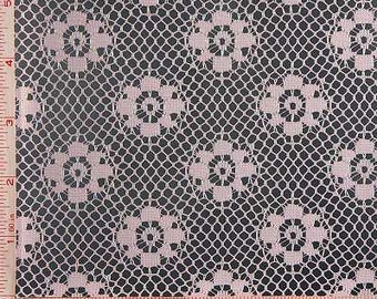 """Light Pink Flower Lace Fabric Polyester 58-60"""""""