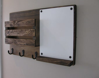 Dry Erase, Mail Organizer, Mail Holder, Mail,  Rustic Organizer, Key Holder, Personalized Option Available