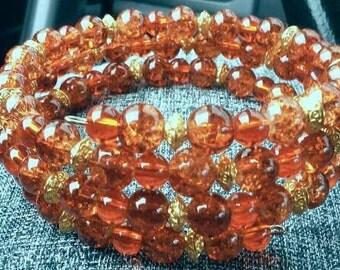 Amber Coil Bracelet