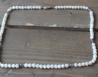 Vintage 18 inch 14k GF Iridescent Bead Necklace