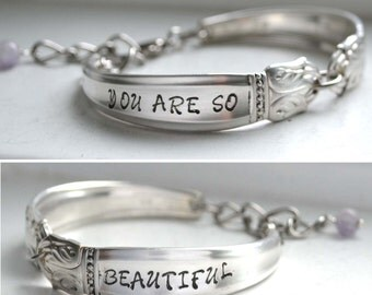 Reserved~ for Aaron Stamped Silverware Bracelet