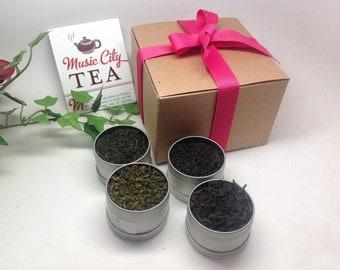 Chinese Tea Sampler 4 Sampler 1-2oz clear ton sampler pack best seller tea