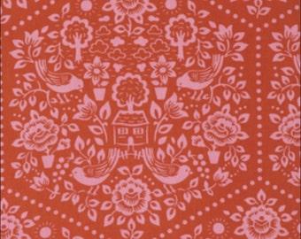 100% Cotton Fat Quarter Freespirit Clementine Summerhouse Red and Pink