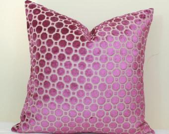 Fuschia Velvet Throw Pillows : Fuschia pillow Etsy