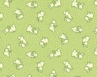 Bunnies - Dark Pear (31280-60) by Lecien Cotton Fabric Yardage Floursack Retro Fabric