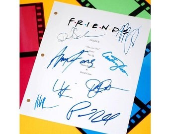 "Friends ""The Last One"" Final Episode Script TV Episode Autographed: Jennifer Aniston, Courtney Cox, David Schwimmer, Matthew Perry, Lisa K."